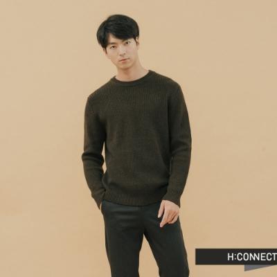 H:CONNECT 韓國品牌 男裝-修身羅紋針織上衣-綠