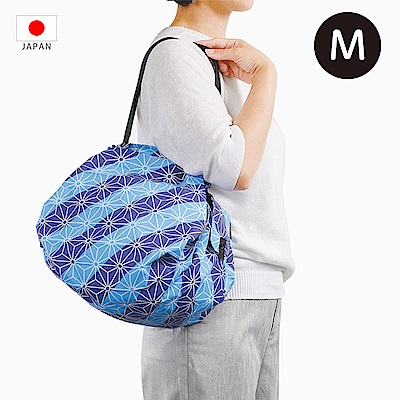 【日本Marna】Shupatto 秒收摺疊環保袋 (M) 麻の葉