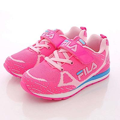 零碼-19cm FILA頂級童鞋 針織運動款 851Q-225桃粉