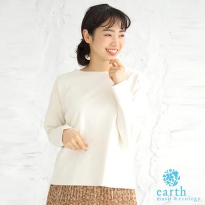 earth music 定番素面長袖上衣