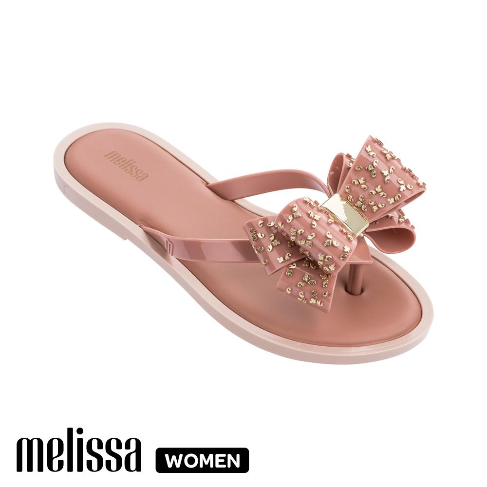 Melissa 蝴蝶結造型涼拖鞋 粉