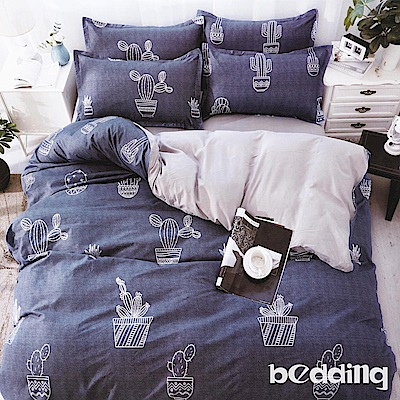 BEDDING-活性印染5尺雙人薄床包涼被組-蔚藍