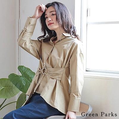 Green Parks 2WAY兩穿腰綁帶襯衫上衣