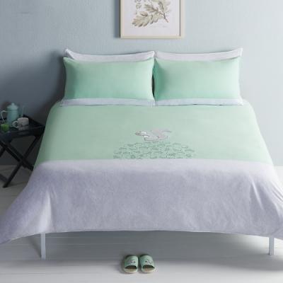 YVONNE COLLECTION 素面拼接枕套-灰綠