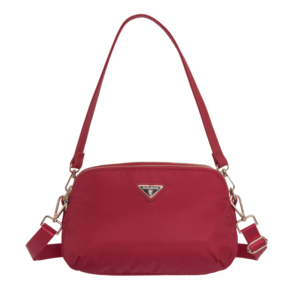 Bella Borsa 多隔層兩用側背包-紅 BB18A001RD