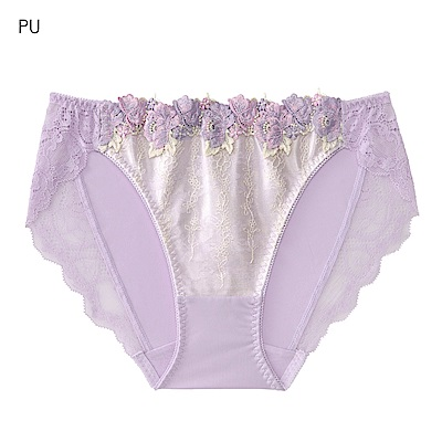 aimerfeel 高雅薔薇蕾絲繡花內褲-紫色-669221-PU