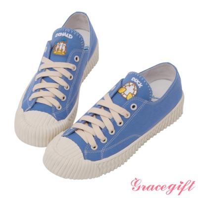 Disney collection by grace gift-迪士尼唐老鴨帆布餅乾鞋 深藍