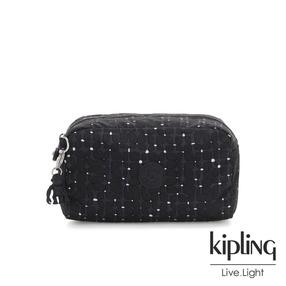 Kipling 低調質感緹花長形化妝包-GLEAM