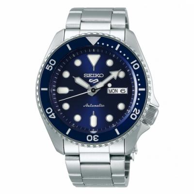 SEIKO 5 sport運動潮流機械腕錶/藍面4R36-07G0B(SRPD51K1)