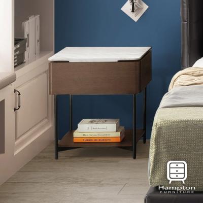 Hampton彼得石面床頭櫃-52*49*60cm