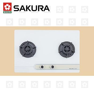 櫻花牌 SAKURA 二口大面板易清檯面爐 G-2623GB 限北北基配送安裝(除三峽林口鶯歌外)