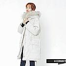 H:CONNECT 韓國品牌 女裝-口袋造型抽繩羽絨外套-灰