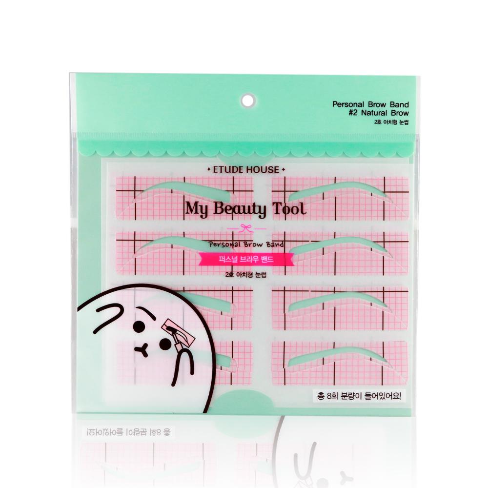 韓國 Etude House 新手畫眉貼紙 8對入-標準眉