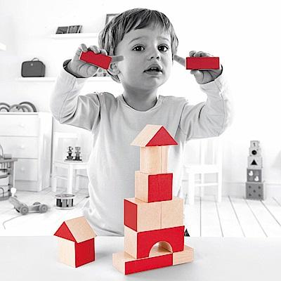 德國Hape愛傑卡 彩色創意積木組-30塊(30周年限定版本)