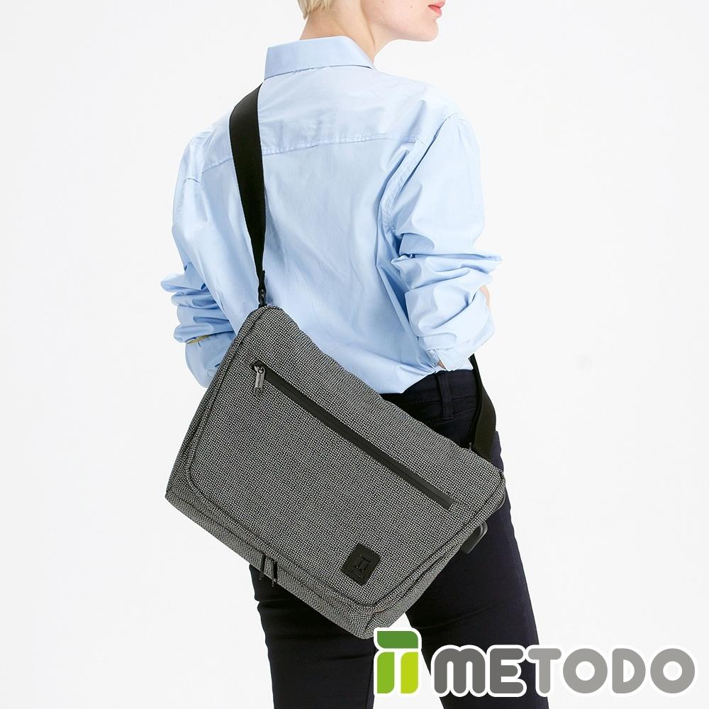 【METODO防盜包】Messenger Bag 不怕割郵差包TSL-402黑/耐磨防潑水/旅遊包/休閒包