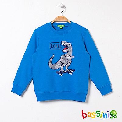 bossini男童-印花厚棉運動衫08天藍