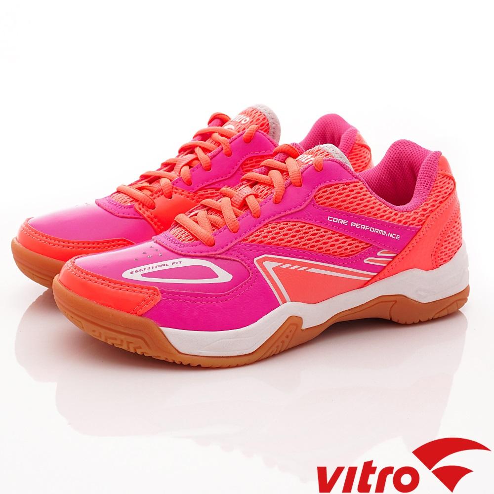 Vitro韓國專業運動品牌-HIT-N.P/N.V頂級羽球鞋-紫粉(女)