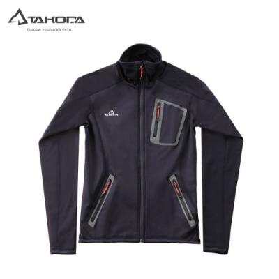 TAKODA 中層刷毛輕薄透氣外套 男款 黑色