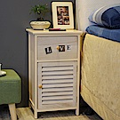 Asllie羅伊一抽一門收納櫃/床頭櫃/邊櫃/置物櫃(免組裝)