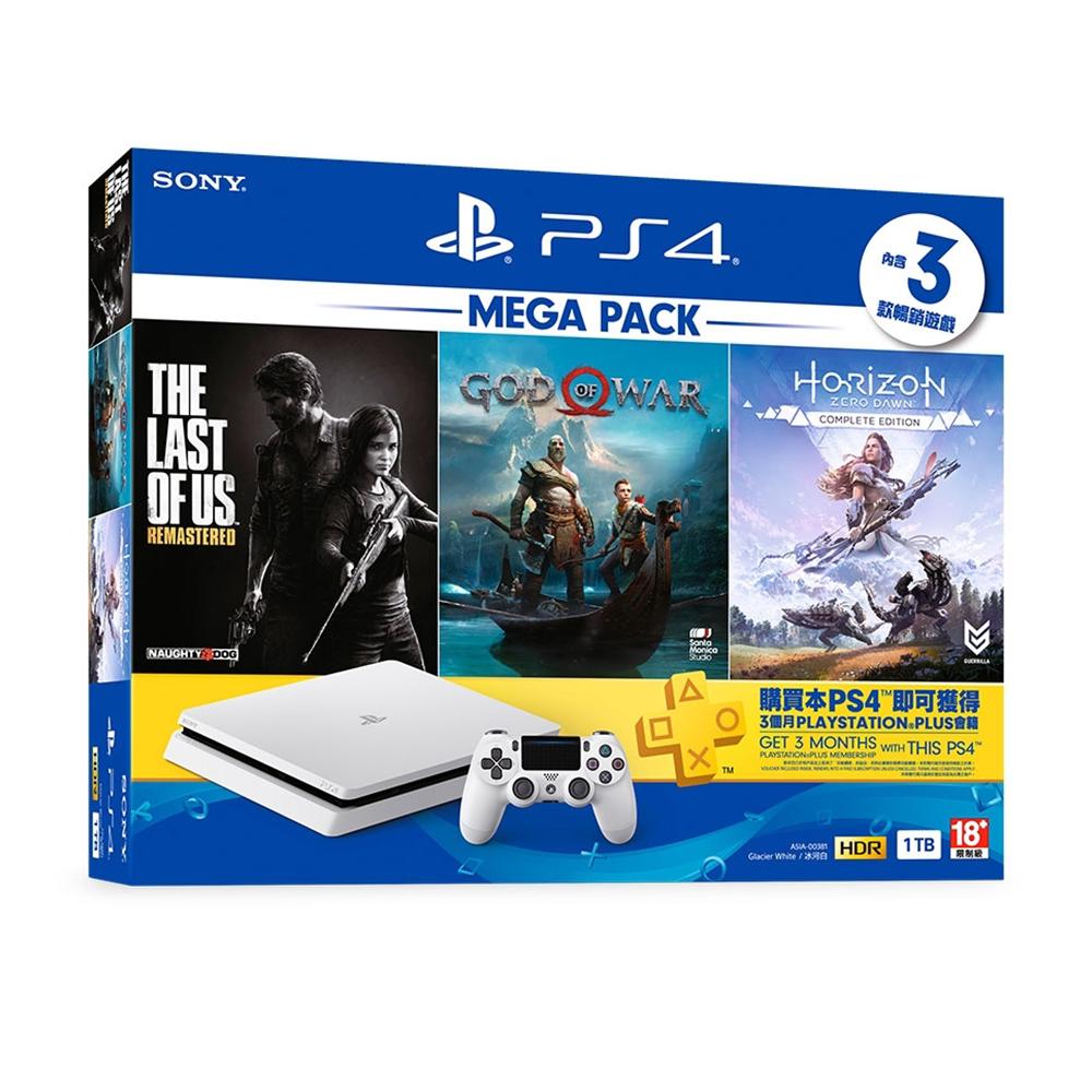 PlayStation 4 MEGA PACK 同捆組 1 (白)