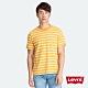 Levis 男款 重磅短袖T恤 經典雙馬布標 芥末黃條紋 product thumbnail 2