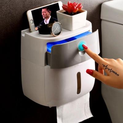 現貨供應~浴室紙盒置物架免打孔防水衛生紙筒 二色-Mini嚴選