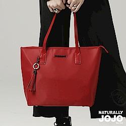 NATURALLY JOJO 經典復刻版配皮托特包(紅)