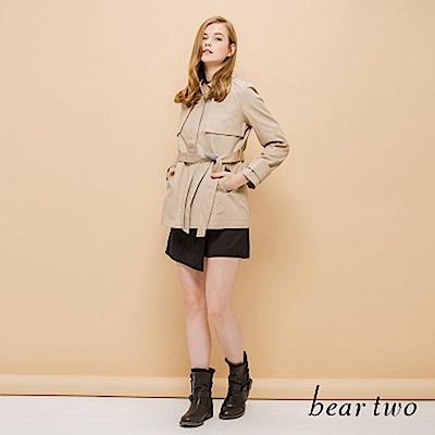 beartwo 自然立挺感修飾風衣外套(二色)