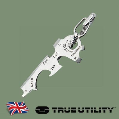 【TRUE UTILITY】英國多功能8合1迷你鑰匙圈工具組Key Tool