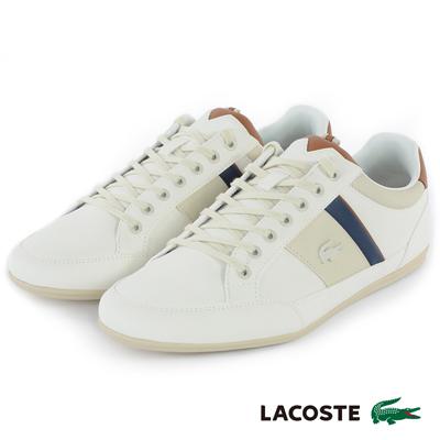 LACOSTE 男用運動休閒鞋-米色