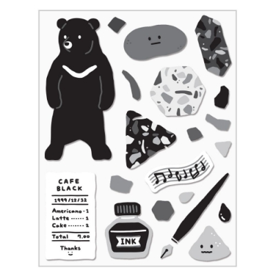 7321 Design GGU GGU手帳裝飾貼紙-黑熊
