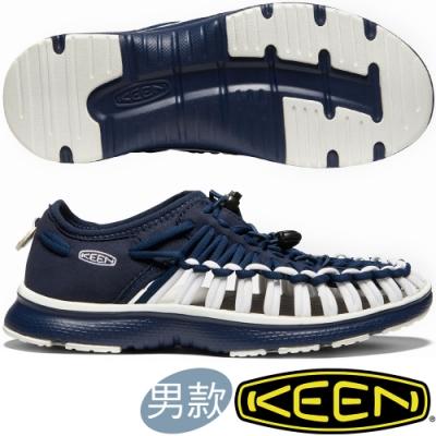 KEEN 1021992深藍 Uneek O2 男戶外護趾編織涼鞋/繩編鞋