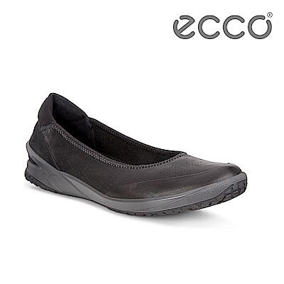 ECCO BIOM LIFE. 彈力輕便套入式平底休閒鞋 女-黑