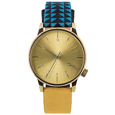 KOMONO Winston Galore 腕錶-圖形混合錶帶/41mm