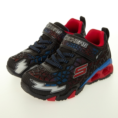 SKECHERS 男童系列 ILLUMI BRIGHTS 防潑水 燈鞋 - 400115LBKRB