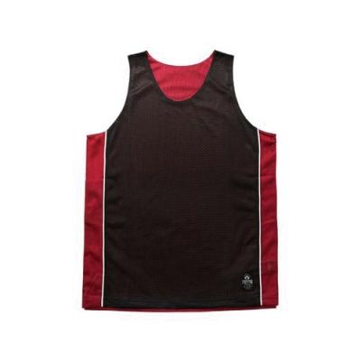 FIRESTAR 男運動籃球背心-雙面穿 B3707-10 黑紅
