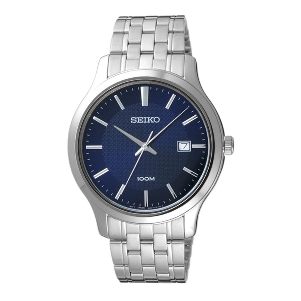 SEIKO夏日點點時尚型男腕錶-銀X藍-SUR291P1-40mm