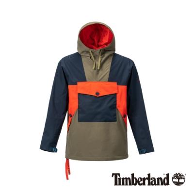 Timberland 男款地球英雄寶石藍撞色套頭夾克|A1ZQ2