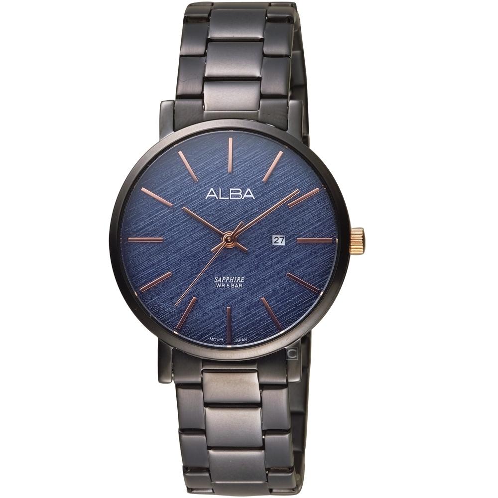 ALBA雅柏時尚紋理手錶(VJ22-X317B AH7V01X1)