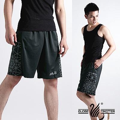 【遊遍天下】MIT台灣製男款時尚休閒運動短褲P121黑灰