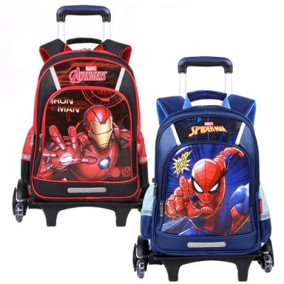 【Disney 迪士尼】鋼鐵人蜘蛛人分離式爬樓梯拉桿書包 2款可選(漫威爬樓梯書包)