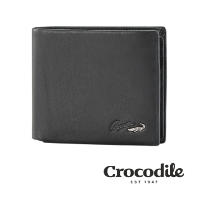 Crocodile Noble系列拉鍊中翻短夾 0103-09402-01