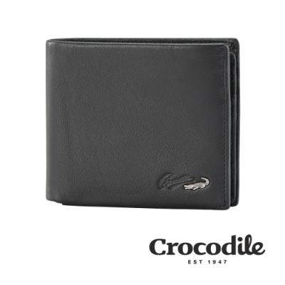 Crocodile Noble系列拉鍊上翻短夾 0103-09403-01