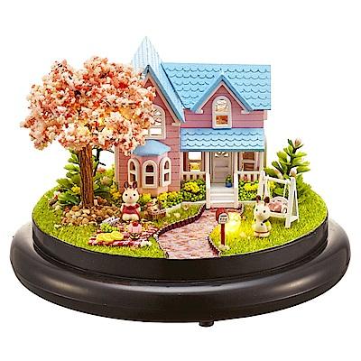 半島良品 DIY微景觀LED燈精緻小屋- 櫻花約定