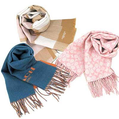 [時時樂限定] COACH 雙面羊毛保暖長圍巾(男女款)-2480