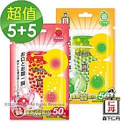 森下仁丹 魔酷雙晶球-哈密瓜(5盒