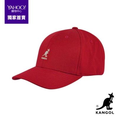 KANGOL-WOOL FLEXFIT棒球帽-紅色