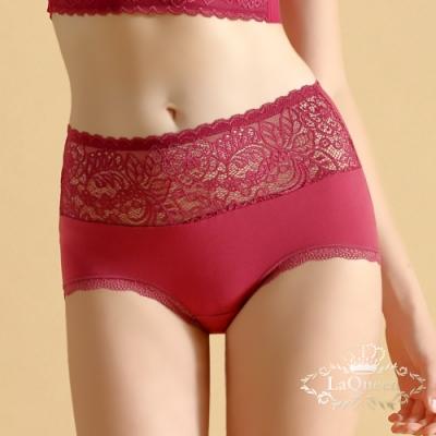 內褲 無痕蠶絲柔軟美臀小褲-紅 La Queen