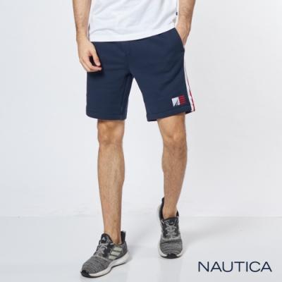 Nautica 運動風休閒刷毛短褲-海軍藍