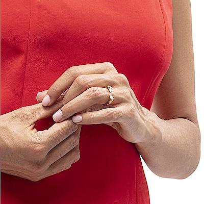 CALVIN KLEIN Brilliant 系列閃耀香檳金晶鑽戒指-8